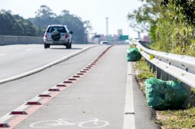 Recolhimento de lixo nas rodovias paulistas