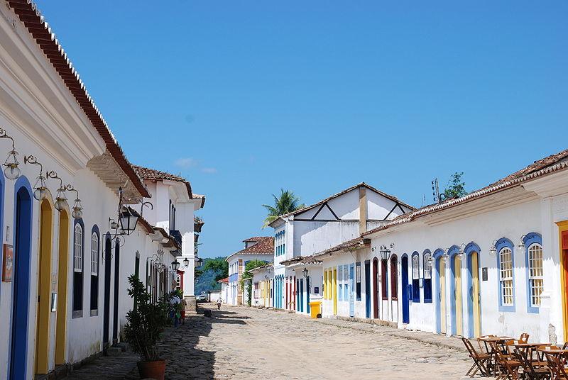 Rua típica de Paraty