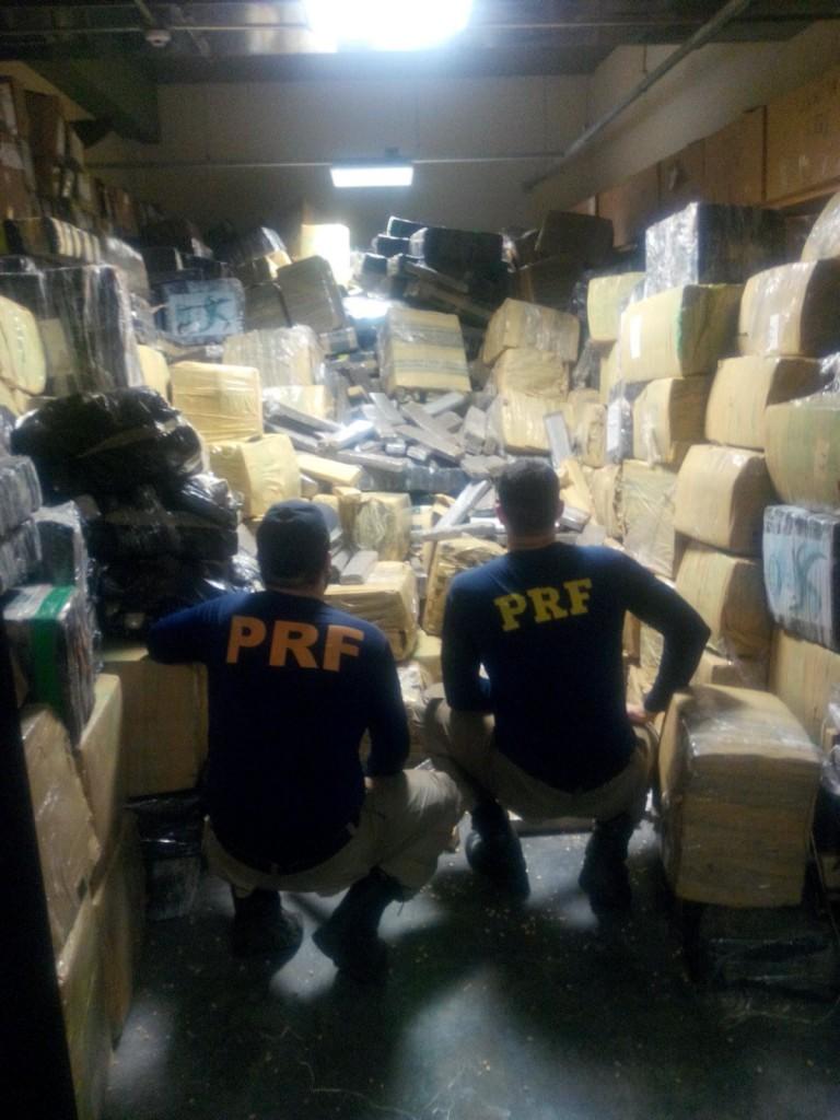 Drogas na apreensão recorde da PRF do Paraná