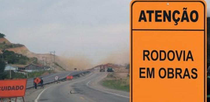 Rodovia BR-163/SC terá bloqueios até 13 de setembro