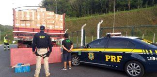 PRF prende contrabandista com R$ 1,1 milhão