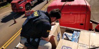 PRF prende contrabandista com R$ 2,2 milhões em cigarros do Paraguai