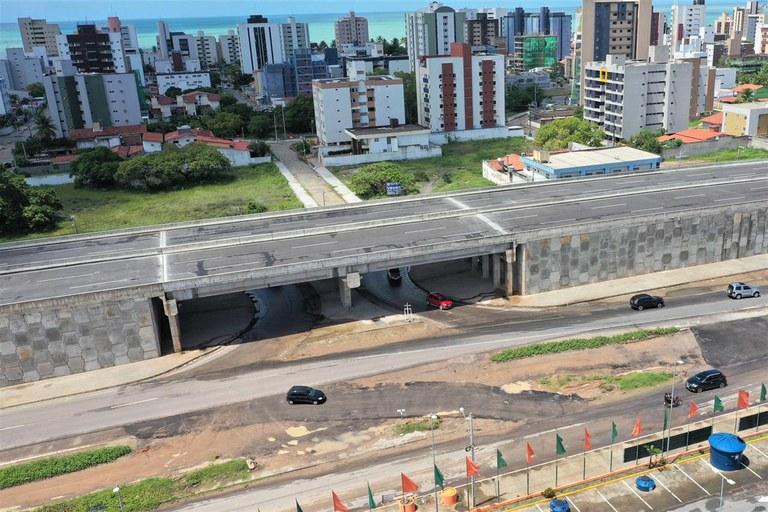 Rodovia BR 230 Viaduto Cabedelo PB Dnit - Dois viadutos são liberados parcialmente ao tráfego na BR-230, na Paraíba